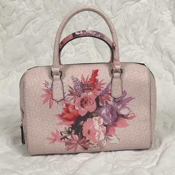 758bb08ce3 Guess Handbags - 💥Guess Ashville pink floral satchel handbag